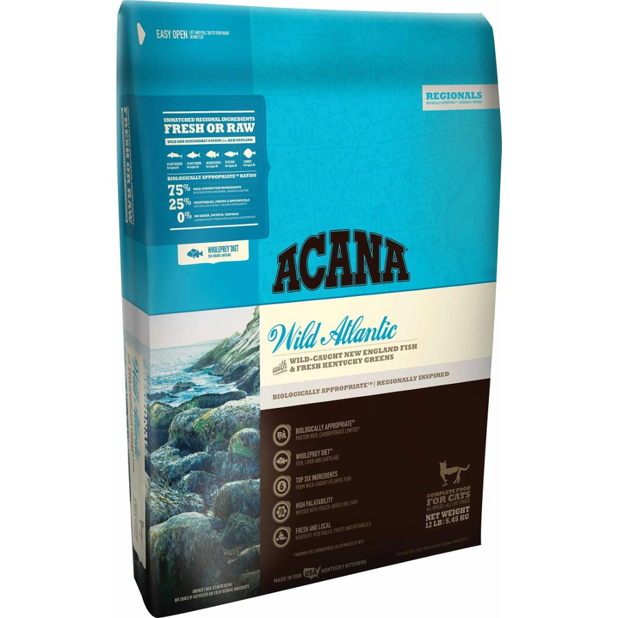 ACANA Wild Atlantic Regional Grain-Free Dry Cat Food 12lbs