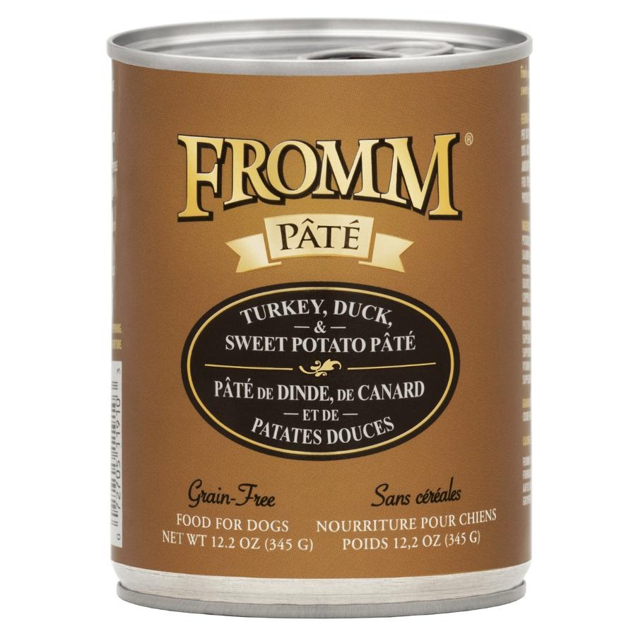 Fromm 'Pate' Turkey, Duck, & Sweet Potato Grain-Free Canned Dog Food 12.2z, 12