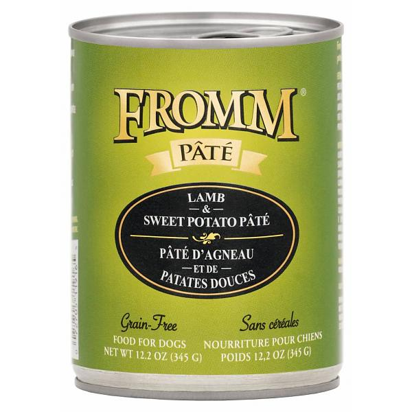 Fromm 'Pate' Lamb & Sweet Potato Grain-Free Canned Dog Food 12.2z, 12