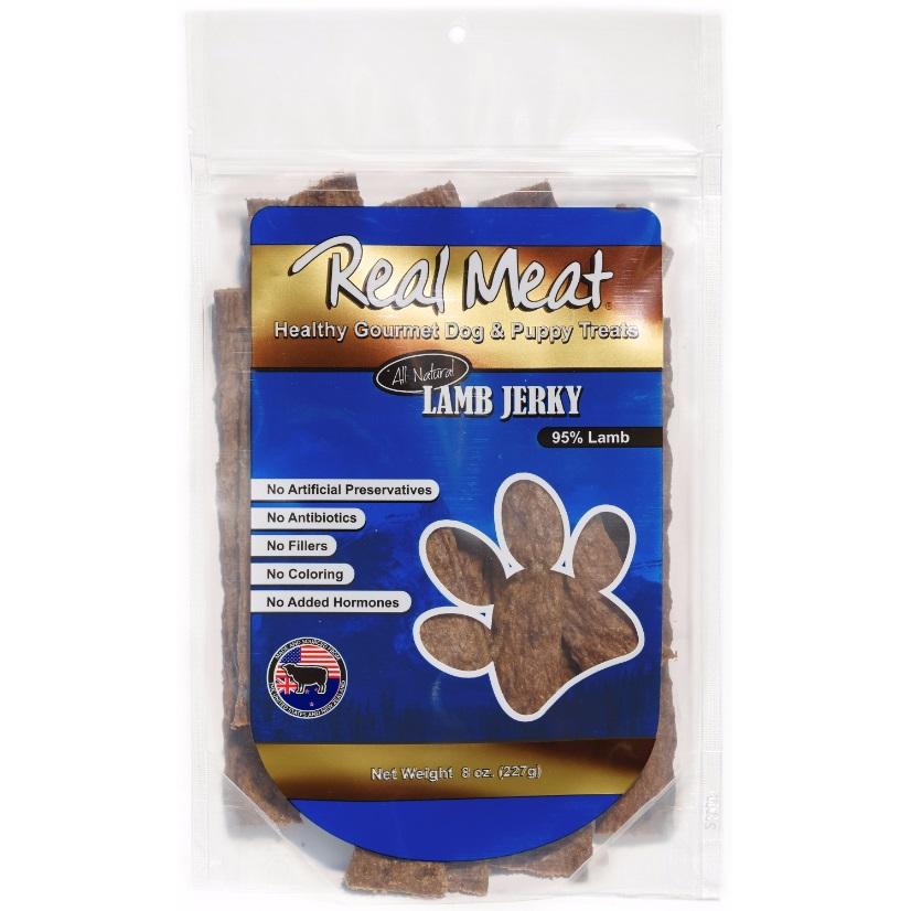 The Real Meat Company Lamb Jerky Stix Dog Treats 8z