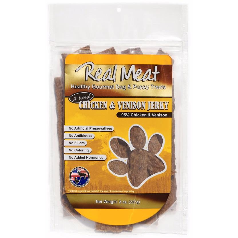 The Real Meat Company Chicken & Venison Jerky Stix Dog Treat 8z