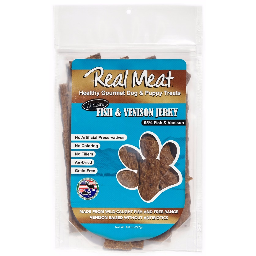 The Real Meat Company Fish & Venison Stix Dog Treat 8z