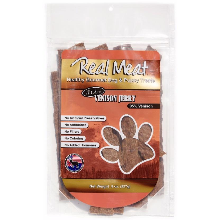 The Real Meat Company Venison Jerky Stix Dog Treat 8z