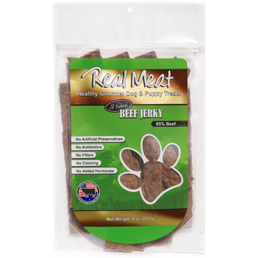 The Real Meat Company Beef Jerky Stix Dog Treats 8z