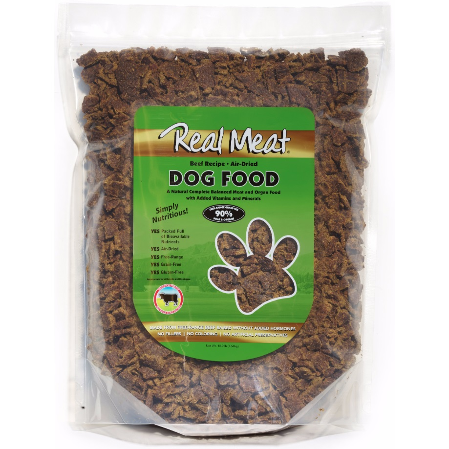 The Real Meat Company 90% Beef Air-Dried Dog Food 10lbs