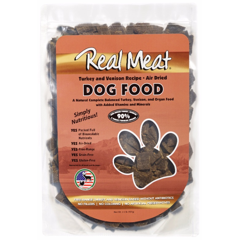 The Real Meat Company 90% Turkey & Venison Air-Dried Dog Food 2lbs