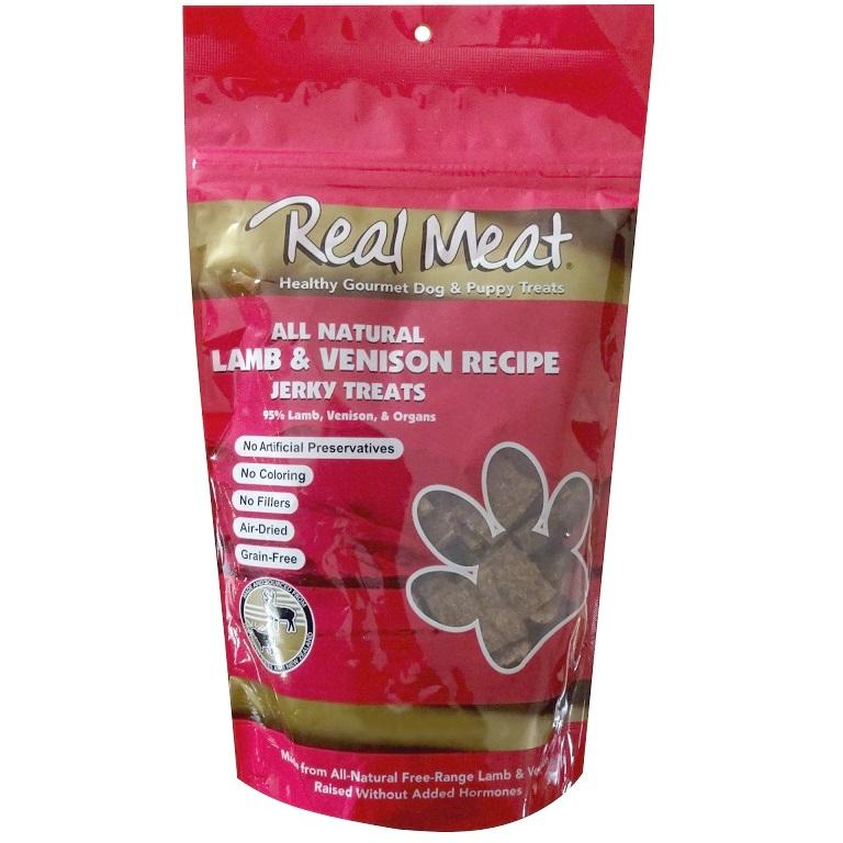 The Real Meat Lamb & Venison Jerky Bitz Dog Treat 4z