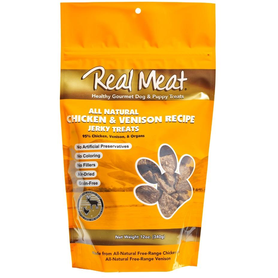 The Real Meat Company Chicken & Venison Jerky Bitz Dog Treat 12z