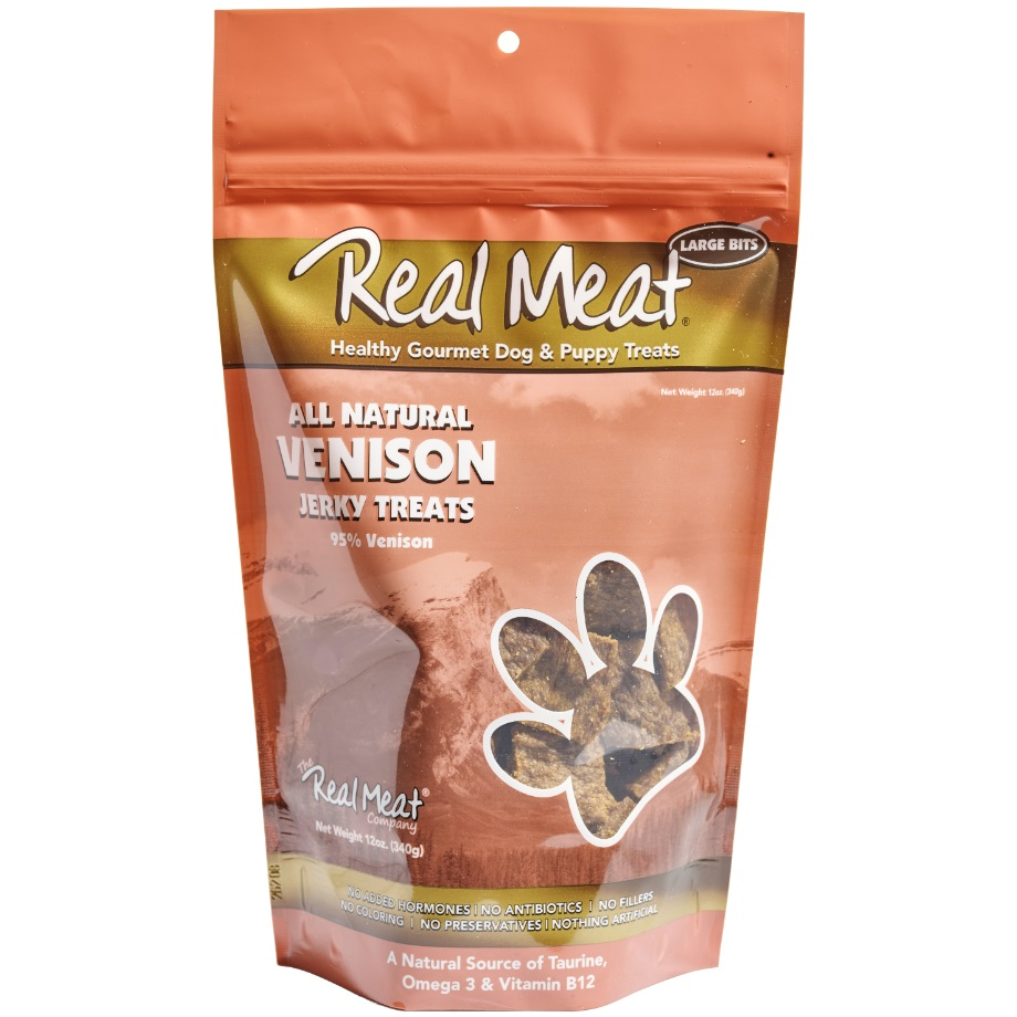The Real Meat Company Venison Jerky Bitz Dog Treats 12z