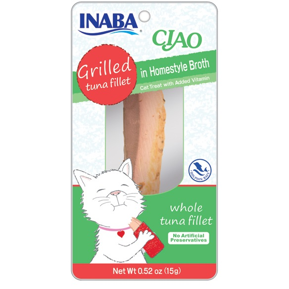 Ciao Grilled Tuna Fillet in Homestyle Broth Cat Treat 0.5z, 6