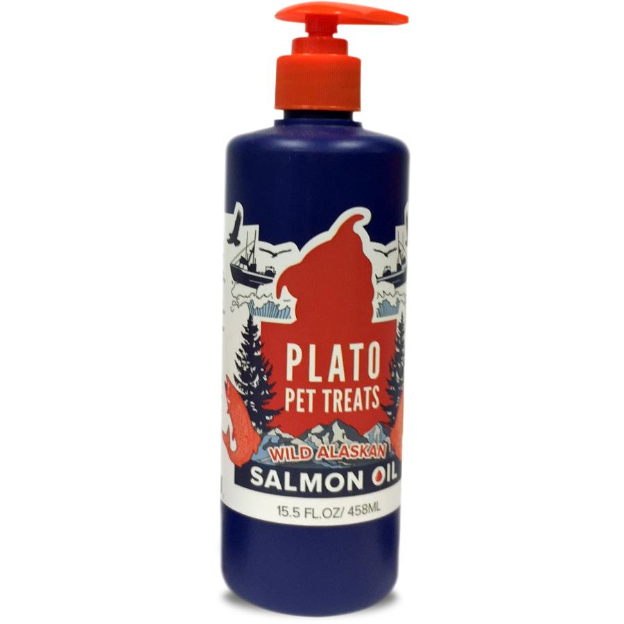 Plato Wild Alaskan Salmon Oil Supplement for Dogs and Cats 15.5z