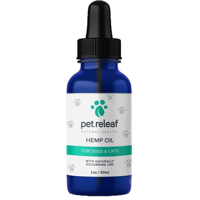 Pet Releaf Hemp Oil 330 Supplement for Dogs & Cats 1oz (100mg Active CBD)