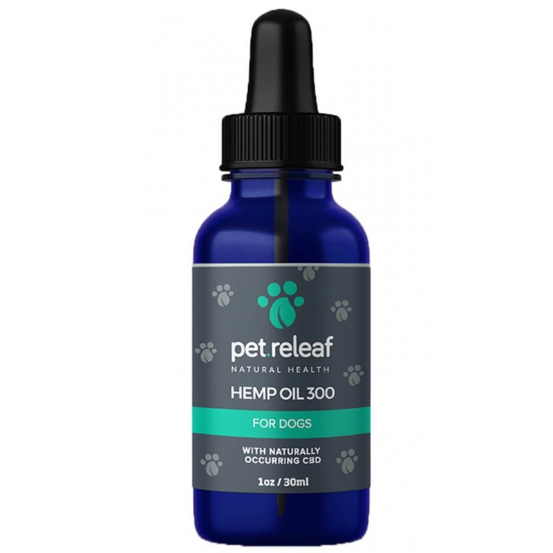 Pet Releaf Hemp Oil 1000 Supplement for Dogs & Cats 1oz (300mg Active CBD)