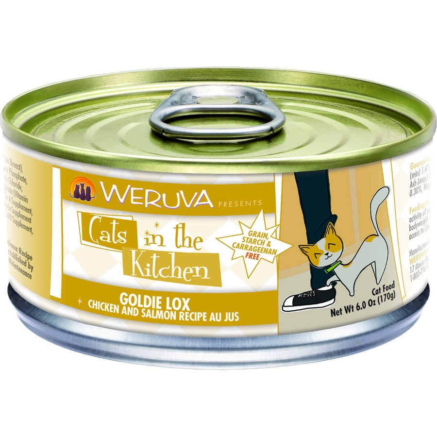 Weruva Cats in the Kitchen 'Goldie Lox' Chicken and Salmon Au Jus Canned Cat Food 6z, 24