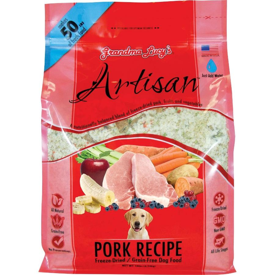 Grandma Lucy's Artisan Grain-Free Pork Freeze Dried Dog Food 10lbs