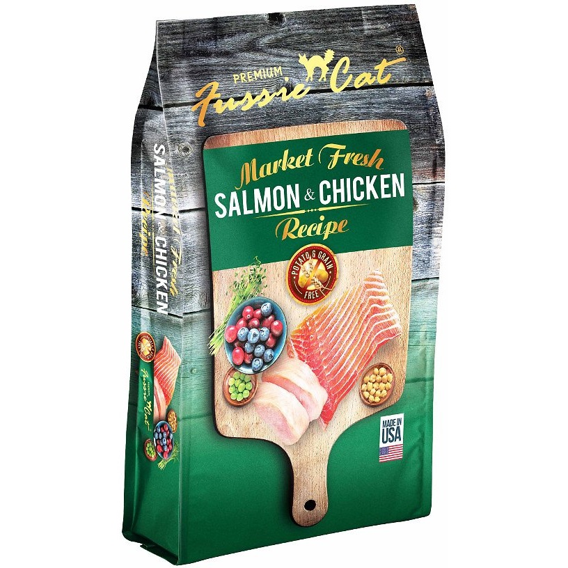 Fussie Cat Market Fresh Salmon & Chicken Recipe Grain-Free Dry Cat Food 4lbs