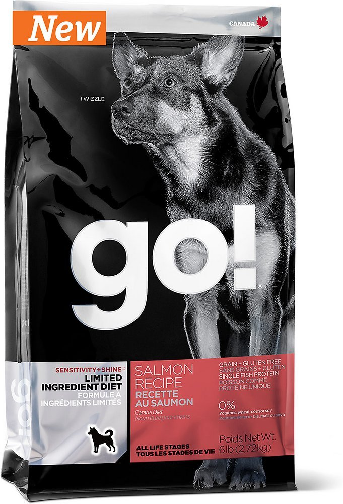 Petcurean Go! Sensitivity + Shine Limited Ingredient Diet Salmon Recipe Grain-Free Dry Dog Food 25lbs