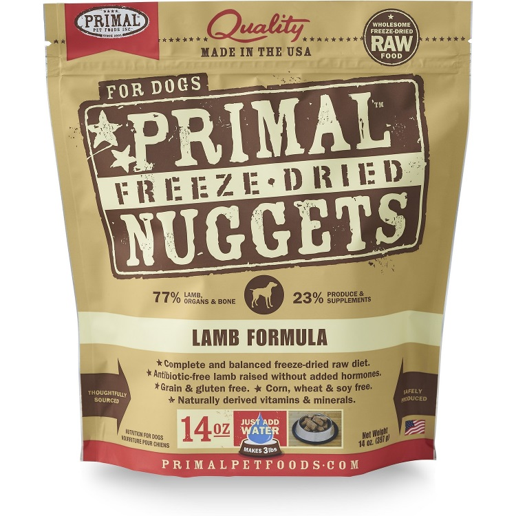 Primal Lamb Formula Nuggets Freeze-Dried Dog Food 14z