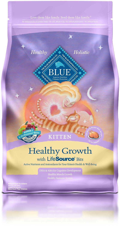 Blue Buffalo Healthy Growth Kitten Chicken & Brown Rice Recipe Dry Cat Food 3lbs