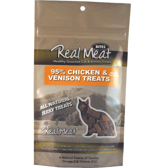 The Real Meat Chicken & Venison Treat Cat 3z