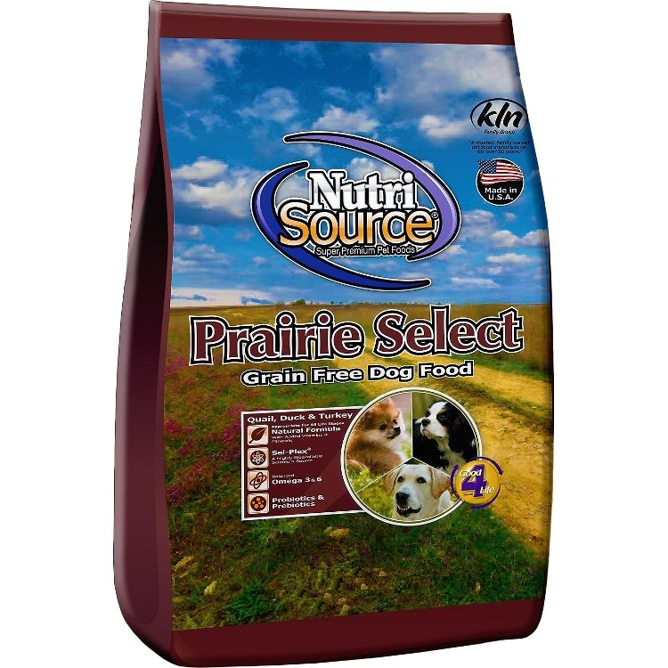 NutriSource Grain Free Prairie Select with Quail Dog Food 30lbs