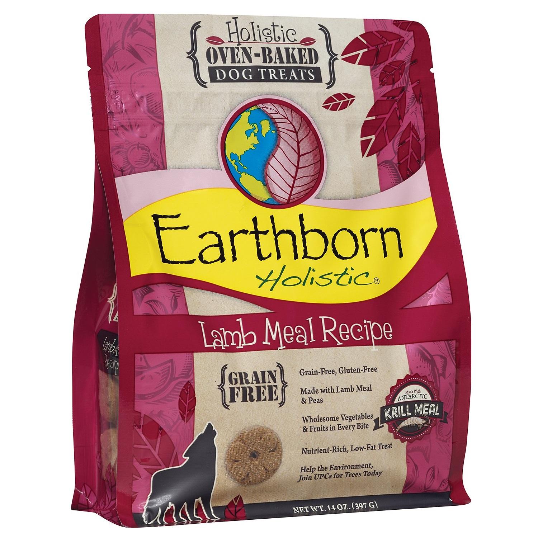 Earthborn Holistic Grain-Free Lamb Meal Recipe Dog Treats 14z