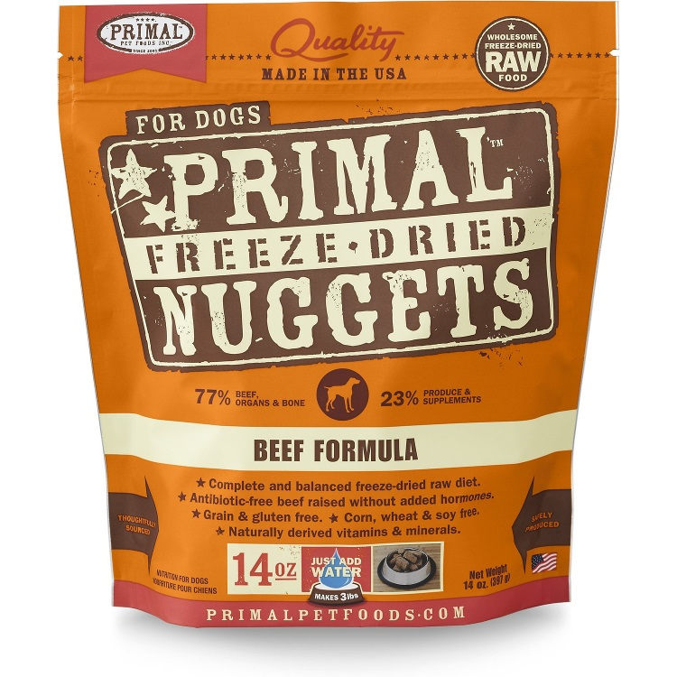 Primal Beef Formula Nuggets Freeze-Dried Dog Food 14z