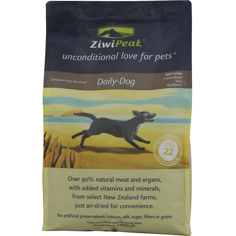 ZiwiPeak Daily-Dog Beef Cuisine Air-Dried Dog Food 5.5lbs