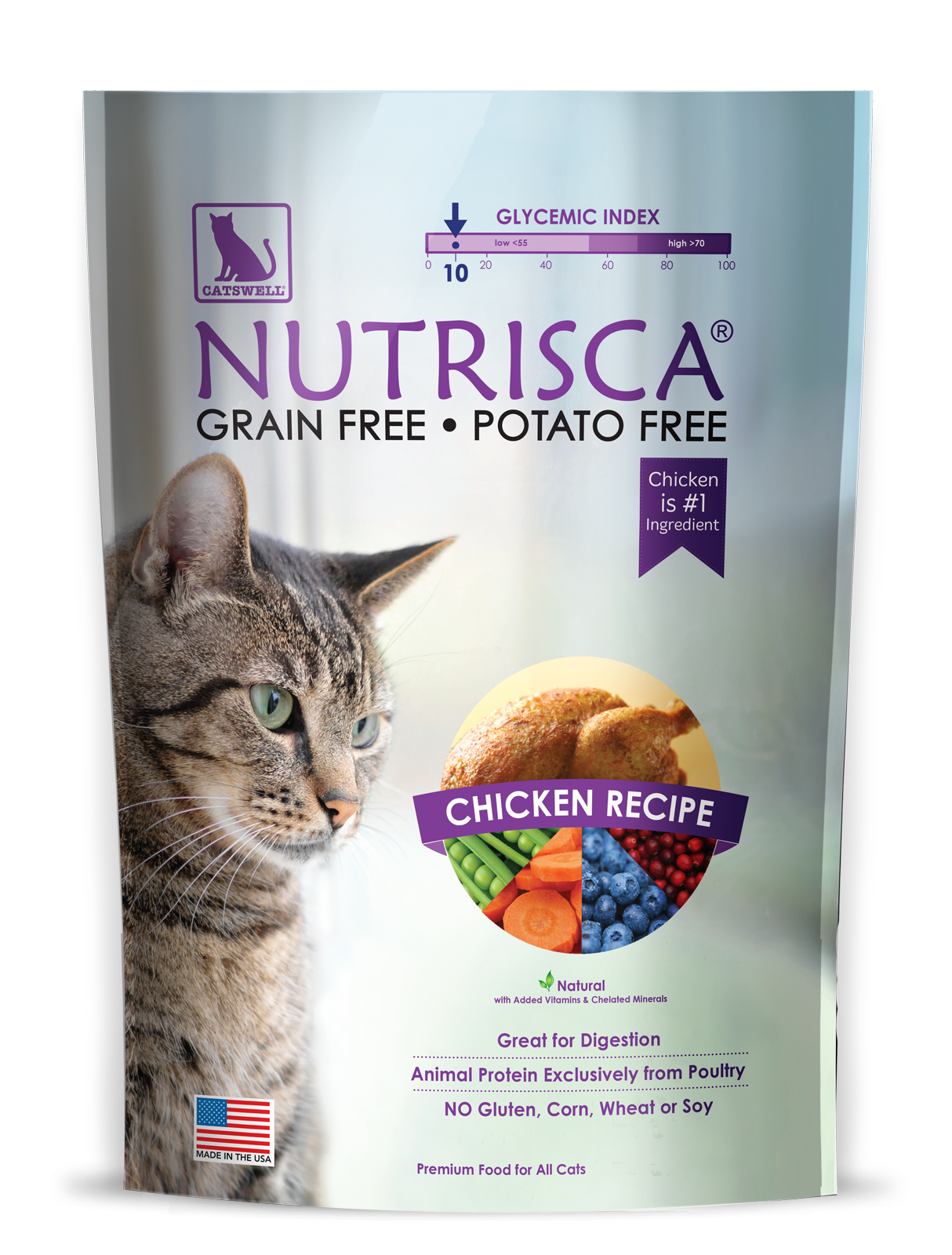 Catswell Nutrisca Grain-Free Chicken Recipe Dry Cat Food 4lbs