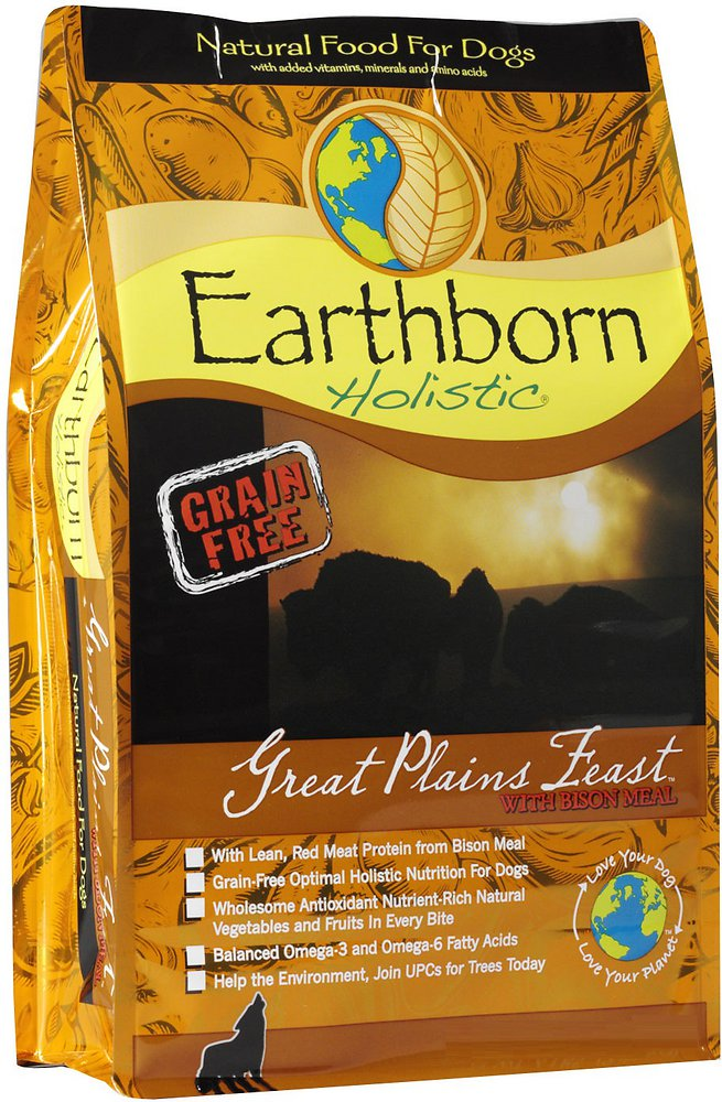 Earthborn Holistic Great Plains Feast Grain-Free Natural Dry Dog Food 5lbs