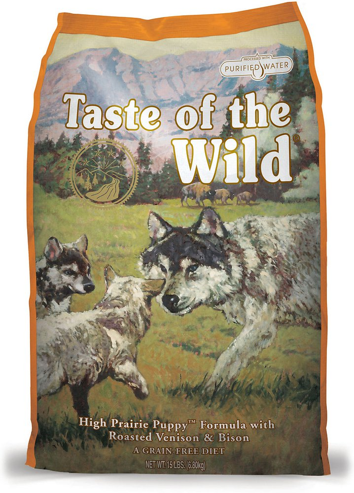 Taste of the Wild High Prairie Puppy Formula Dry Dog Food 5lbs