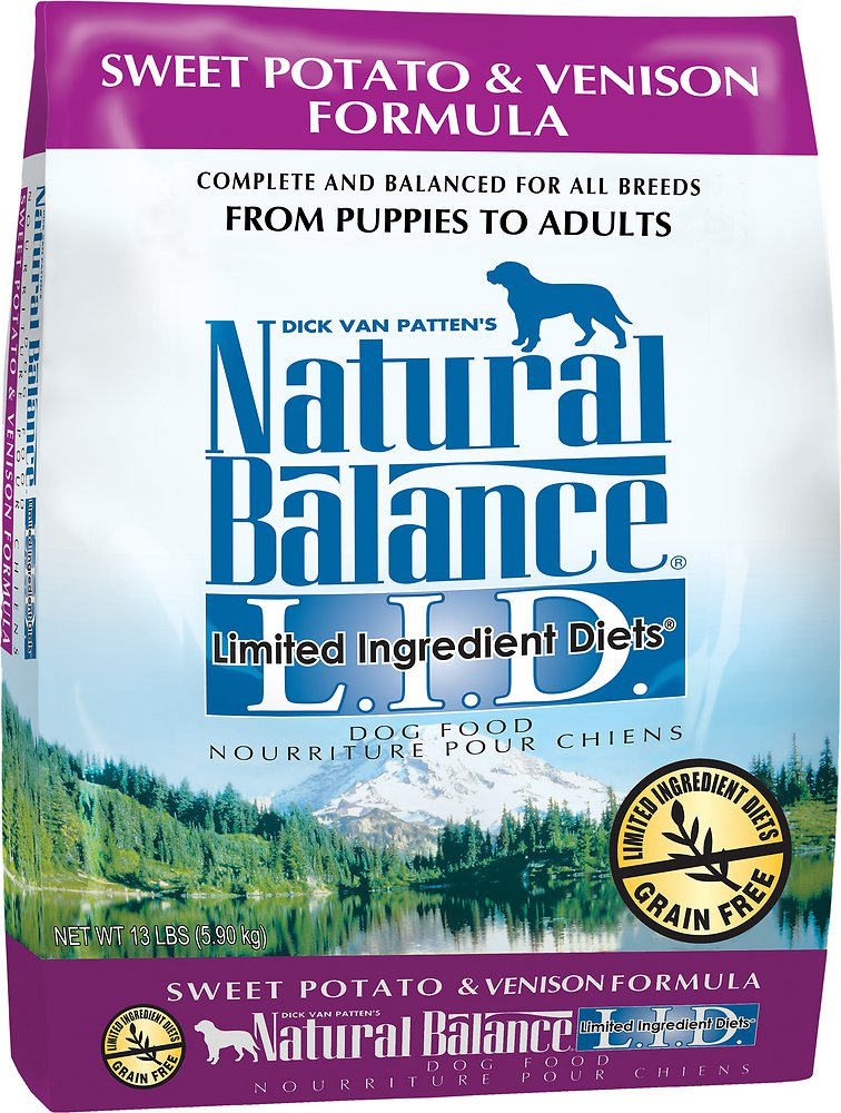 Natural Balance L.I.D. Limited Ingredient Diets Sweet Potato & Venison Formula Dry Dog Food 13lbs