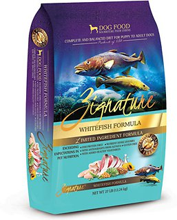 Zignature Grain-Free Whitefish Limited Ingredient Formula Dry Dog Food 27lbs