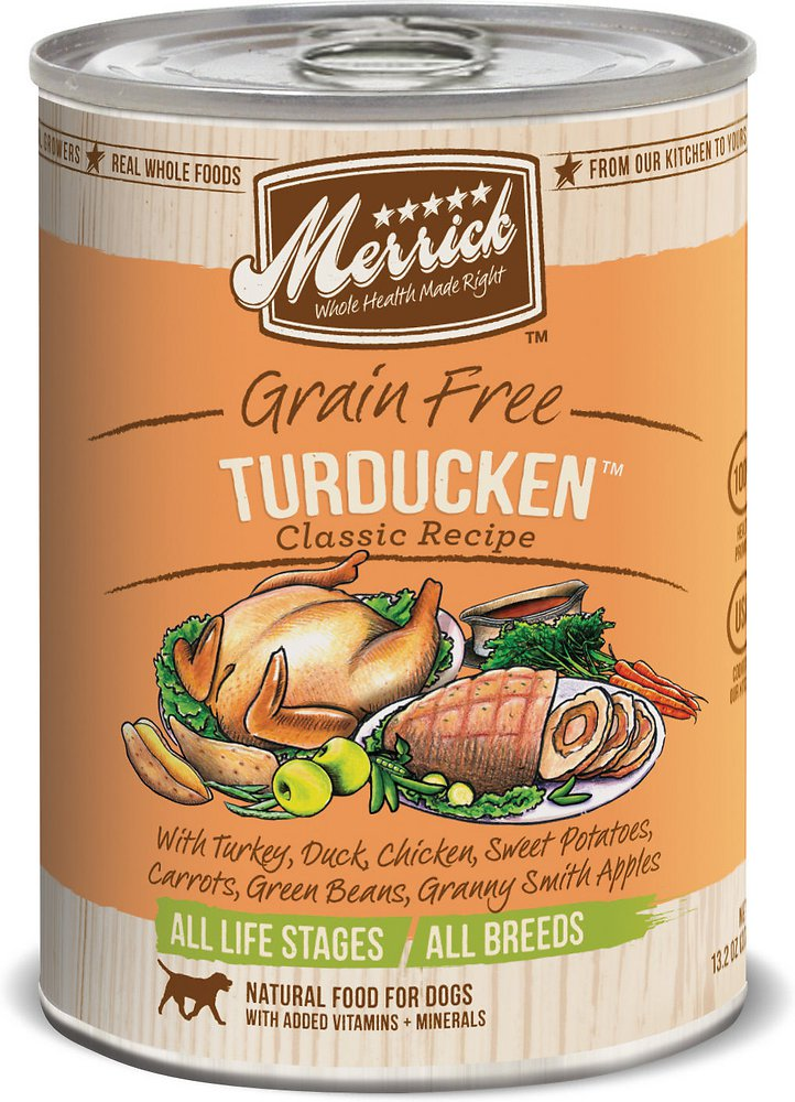 Merrick Classic Grain-Free Turducken Recipe Canned Dog Food 13.2z, 12