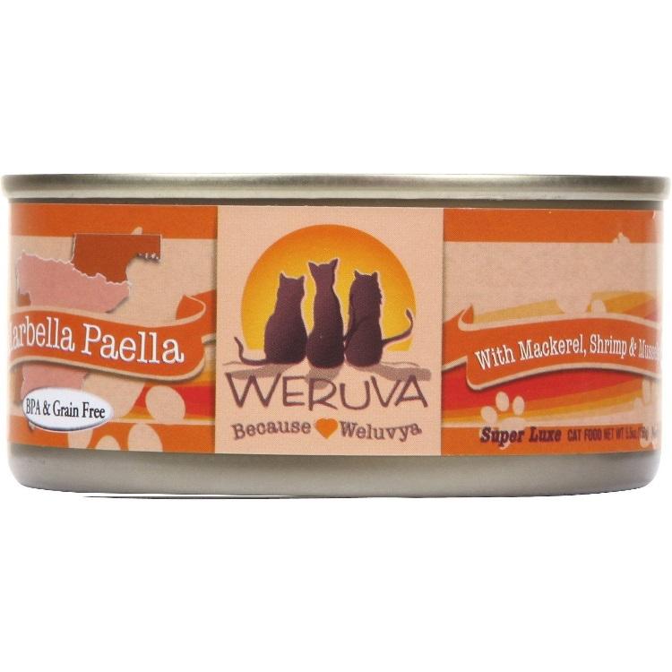 Weruva Marbella Paella with Mackerel, Shrimp & Mussels Canned Cat Food 3z, 24