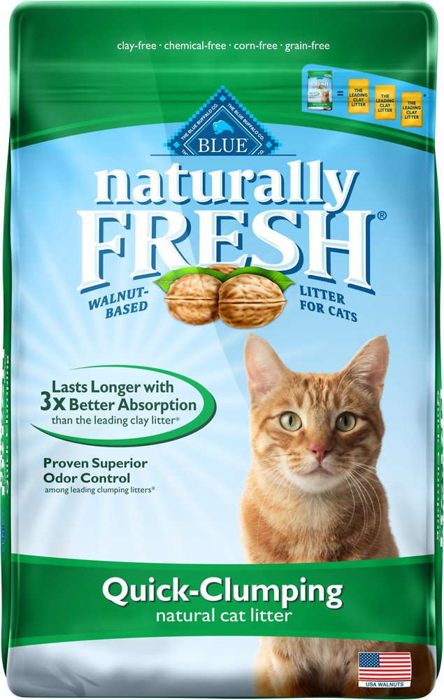 Blue Buffalo Naturally Fresh Walnut-Based Quick-Clumping Cat Litter 14lbs