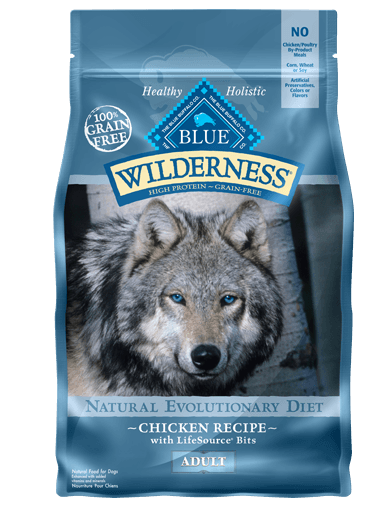 Blue Buffalo Wilderness Chicken Recipe Grain-Free Dry Dog Food 24lbs