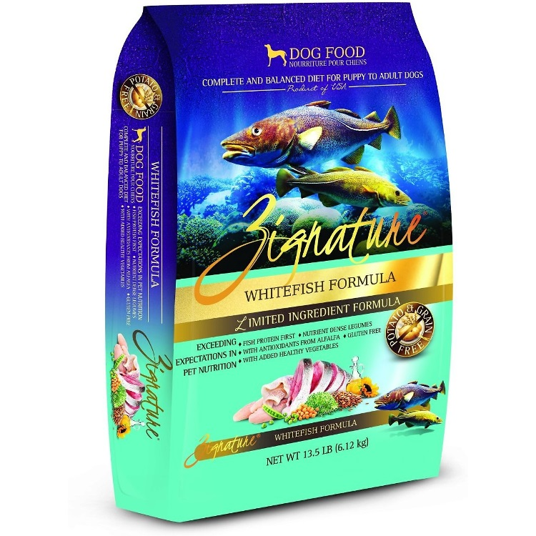 Zignature Grain-Free Whitefish Limited Ingredient Formula Dry Dog Food 13.5lbs