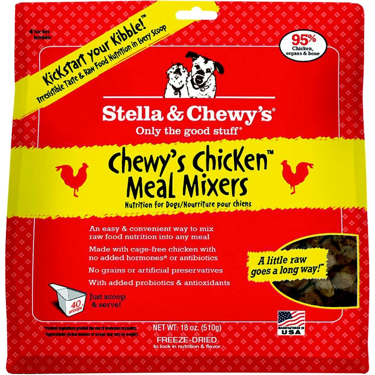 Stella & Chewy's Chewy's Chicken Meal Mixers Raw Freeze Dried Dog Food 18z