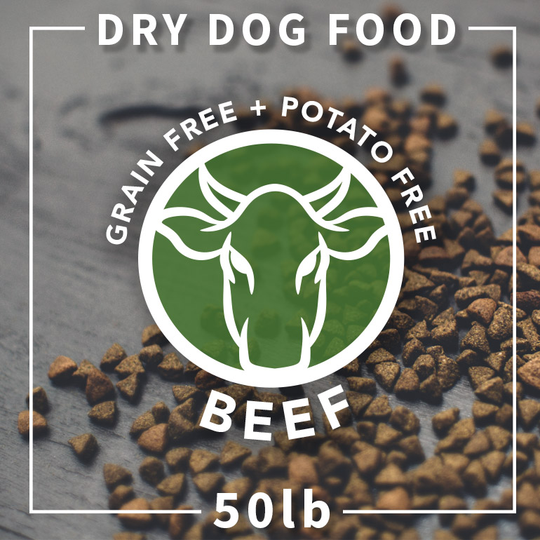Naked Beef and Chickpea Grain-Free Potato-Free Dry Dog Food 50lbs