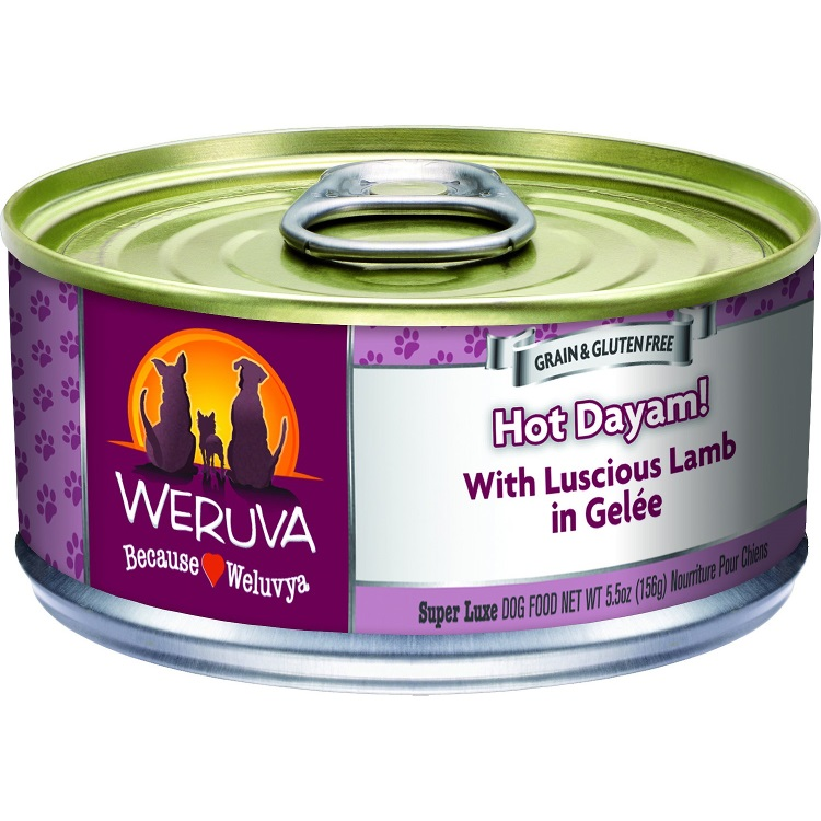 Weruva Hot Dayam! With Luscious Lamb in Gelee Canned Dog Food 5.5, 24