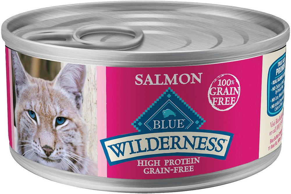 Blue Buffalo Wilderness Salmon Grain-Free Canned Cat Food 5.5z, 24