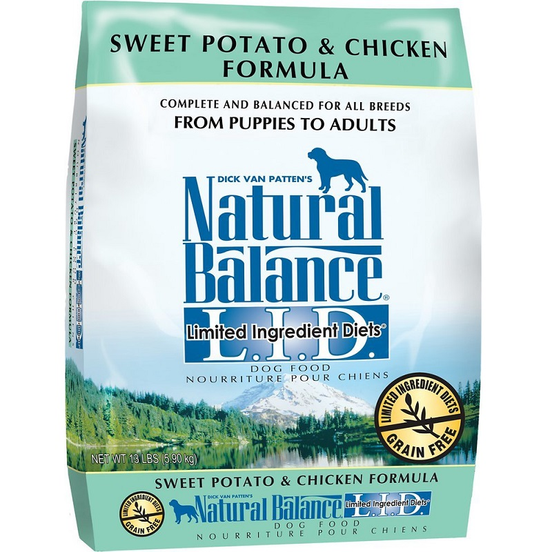 Natural Balance L.I.D. Limited Ingredient Diets Sweet Potato & Chicken Formula Dry Dog Food 13lbs