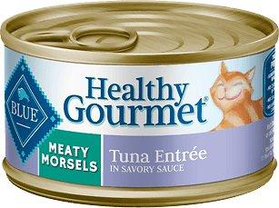 Blue Buffalo Healthy Gourmet Meaty Morsels Tuna Entree Canned Cat Food 3z, 24