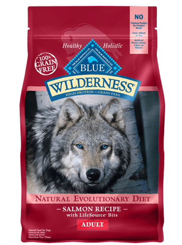 Blue Buffalo Wilderness Salmon Recipe Grain-Free Dry Dog Food 4.5lbs