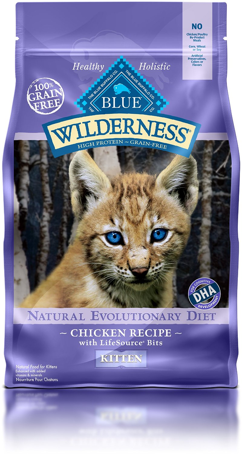 Blue Buffalo Wilderness Kitten Chicken Recipe Grain-Free Dry Cat Food 2lbs