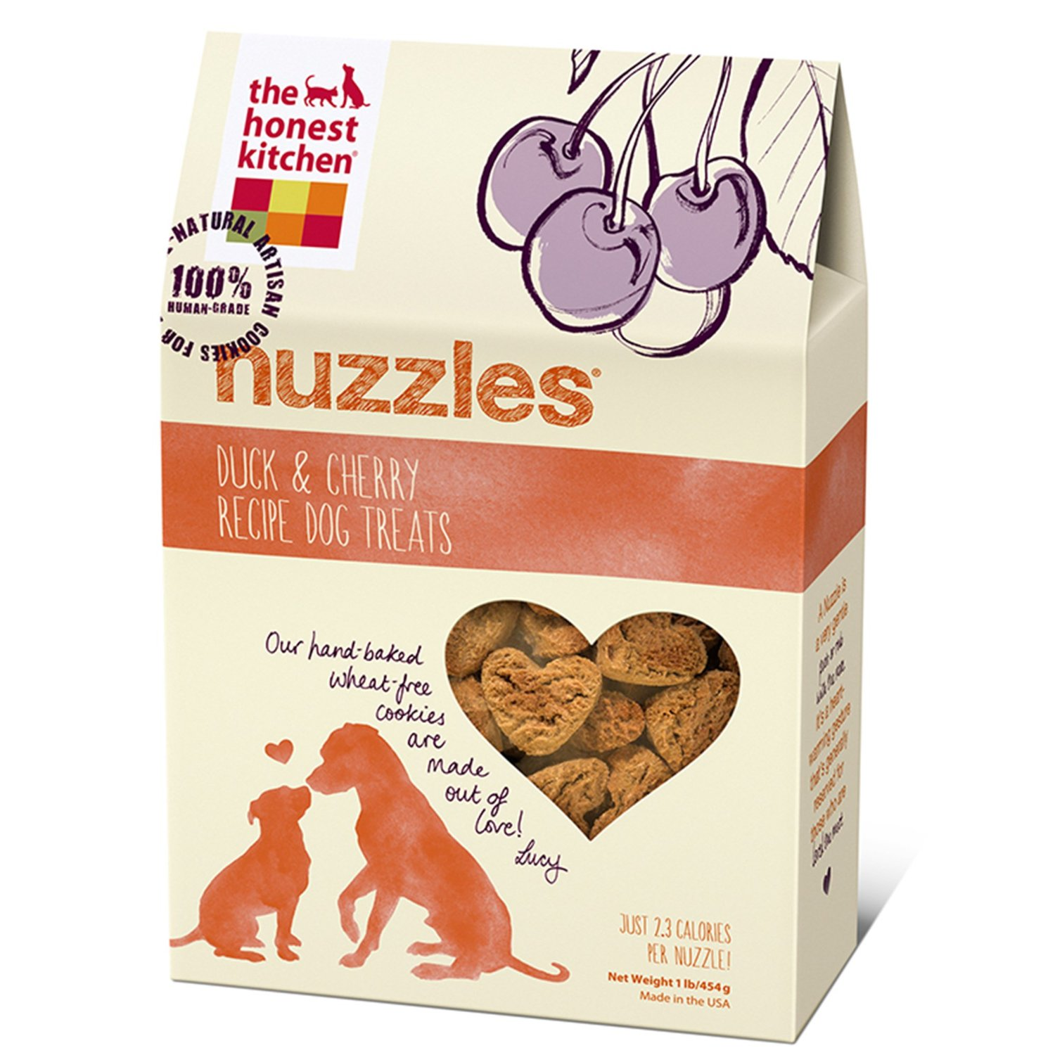 The Honest Kitchen Nuzzles Duck & Cherry Recipe Dog Treats 12z