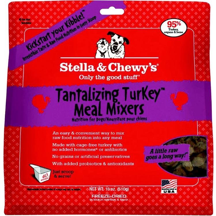 Stella & Chewy's Tantalizing Turkey Meal Mixers Raw Freeze Dried Dog Food 18z