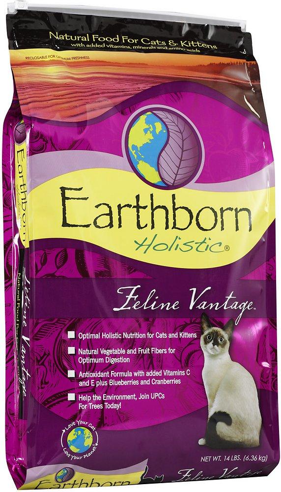 Earthborn Holistic Feline Vantage Grain-Free Natural Dry Cat & Kitten Food 14lbs