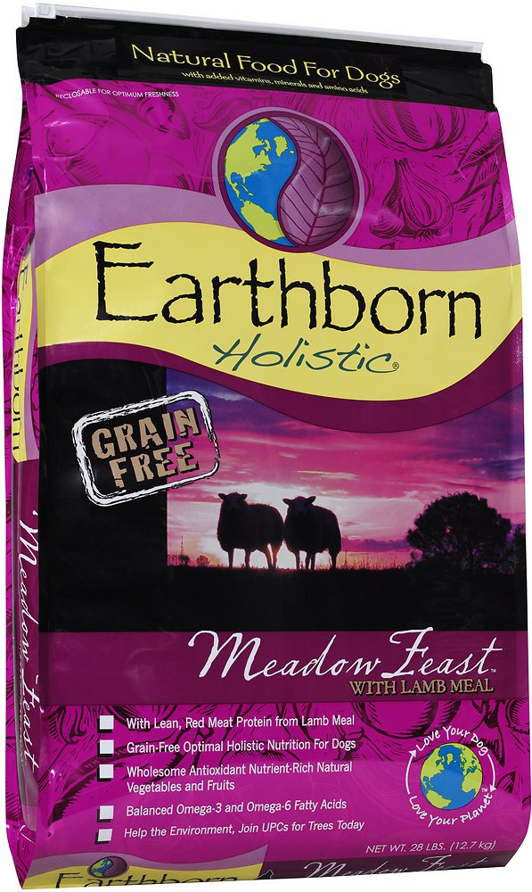 Earthborn Holistic Meadow Feast Grain-Free Natural Dry Dog Food 28lbs
